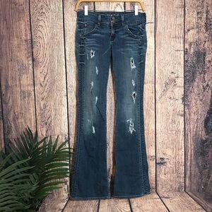 Hudson Jeans Destroyed Denim 25 Blue Flap Pocket